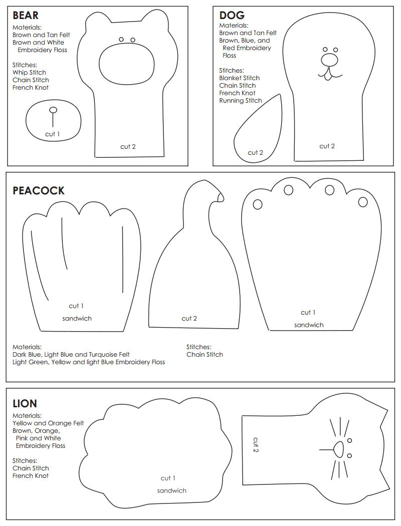 felt finger puppets pattern.pdf - Google Drive | Patroneando ...