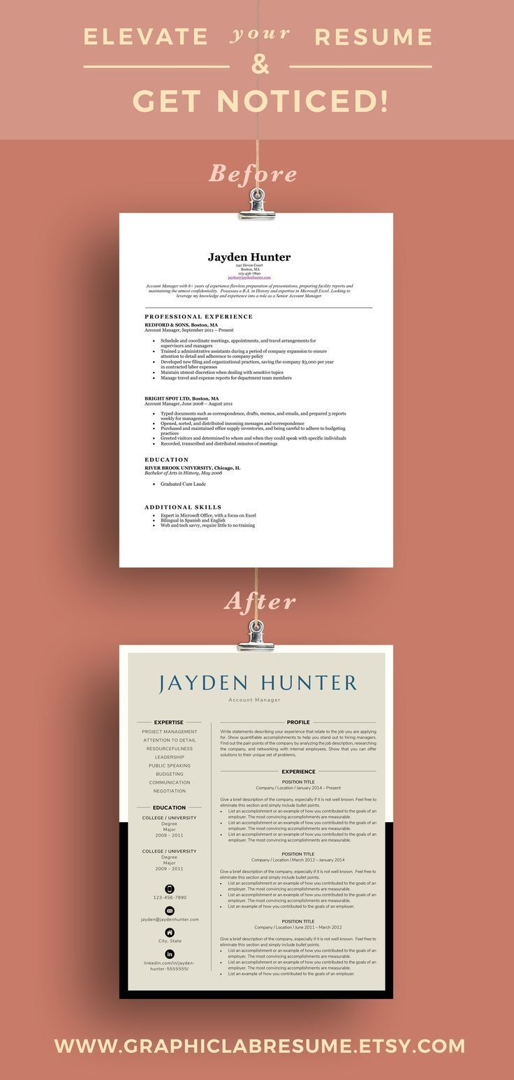 Resume template available with instant download Coordinating