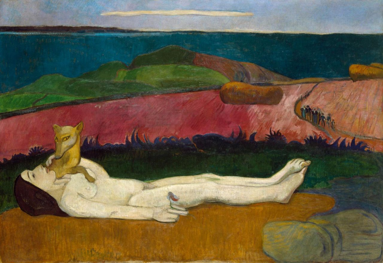 Paul Gauguin - The Loss of Virginity (The Awakening of Spring), 1891, Oil on canvas, 90x130 cm, Chrysler Museum of Art, Norfolk, Virginia