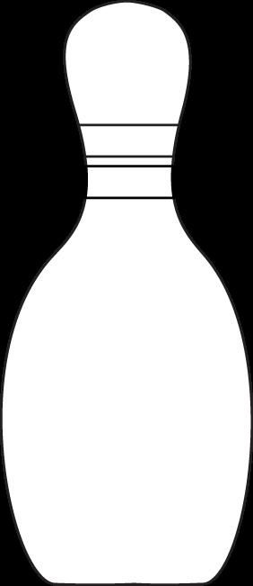 Black White Bowling Pin Clip Art Bowling Pins Black And White