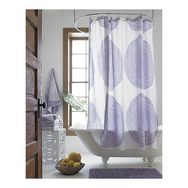 Marimekko Pippurikera Wisteria Shower Curtain. Guest Bath.