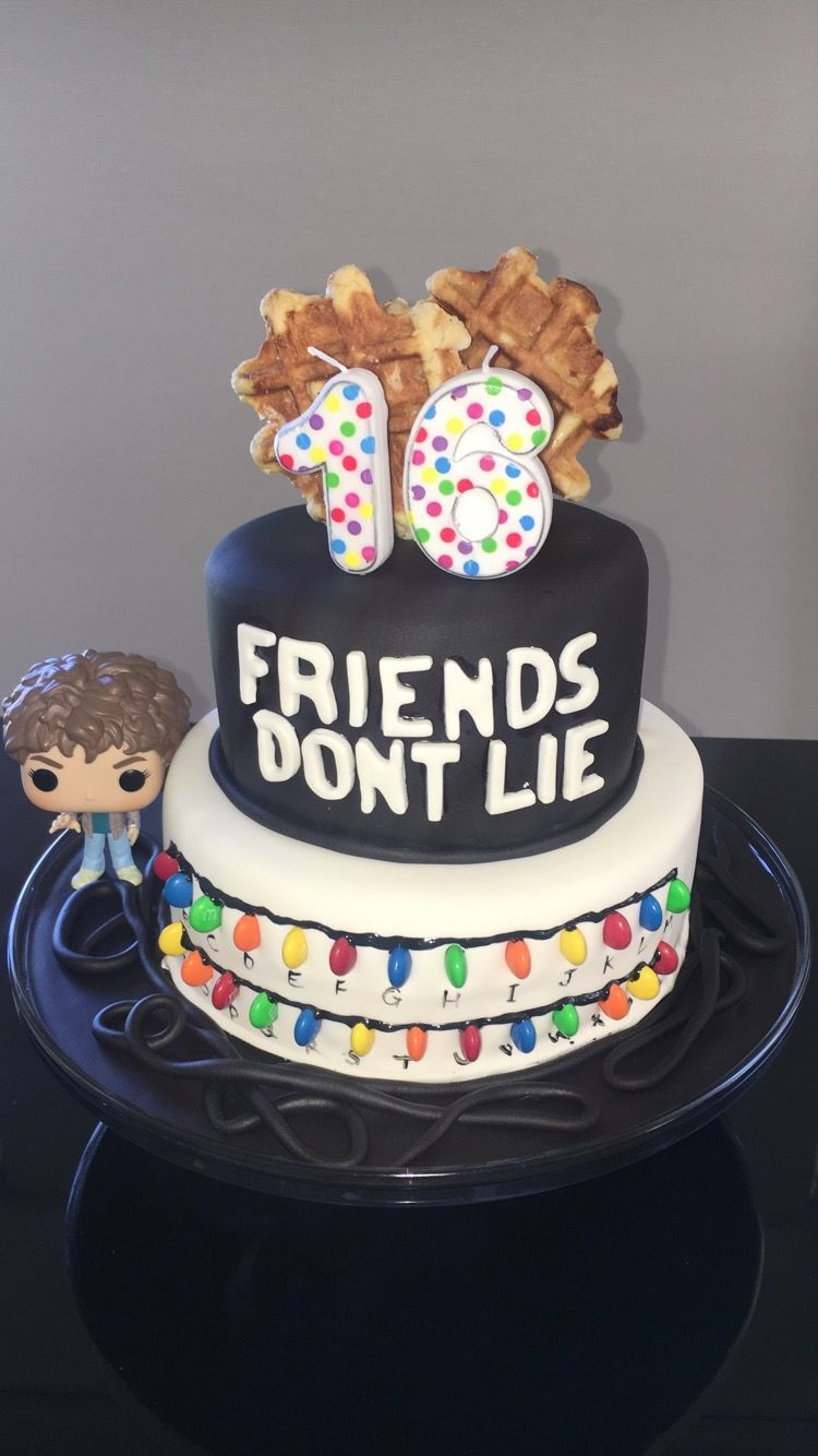 Stranger Things Birthday Cake With Images Stranger Things