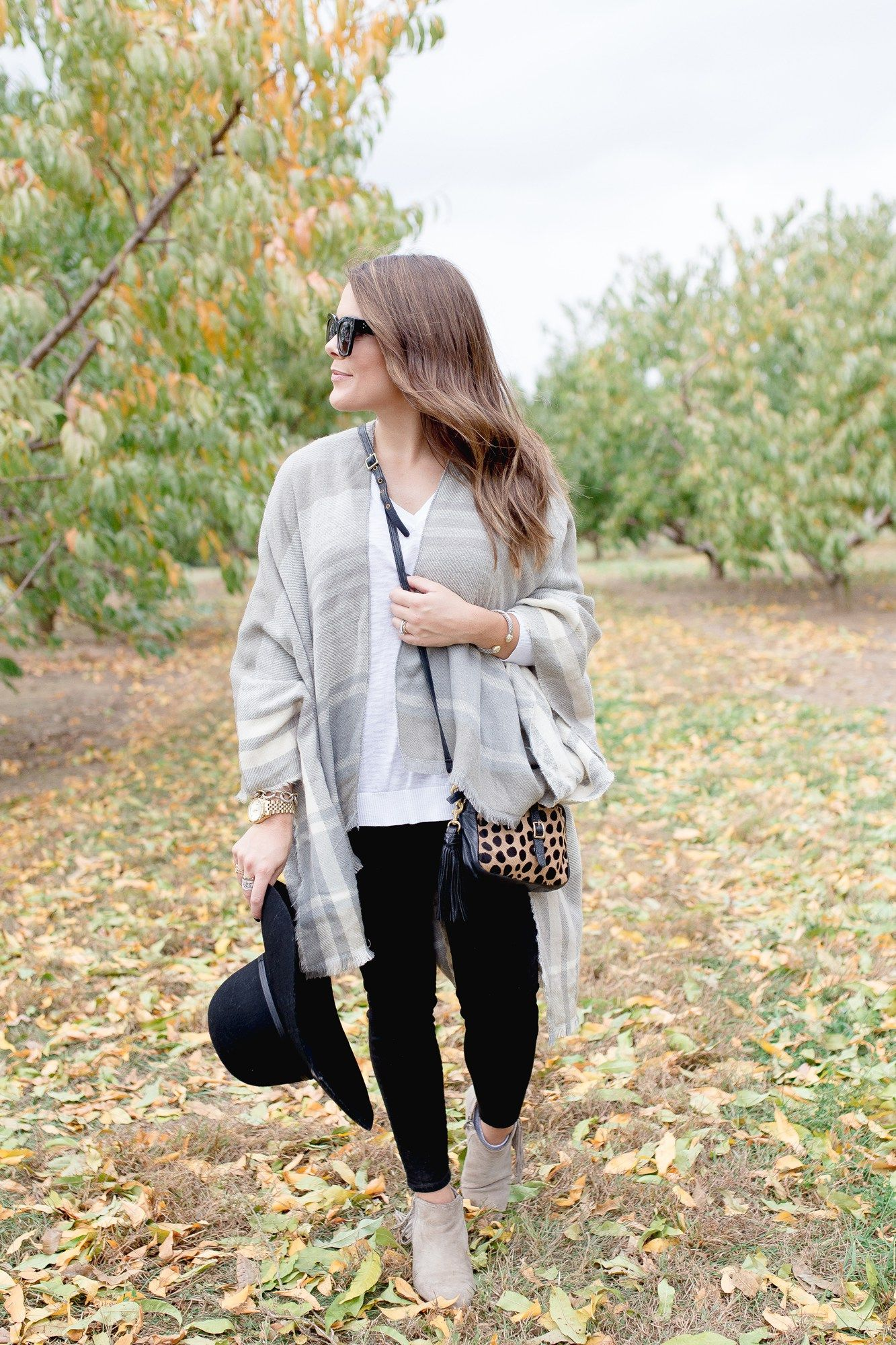 Fall Trends on Glitter & Gingham // Best Fall Accessories with Nordstrom // Ft. Floppy Hats, Plaid Poncho
