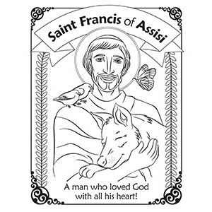 Herald Store Free St Francis Of Assisi Coloring Pages Francis Of Assisi Saint Coloring St Francis