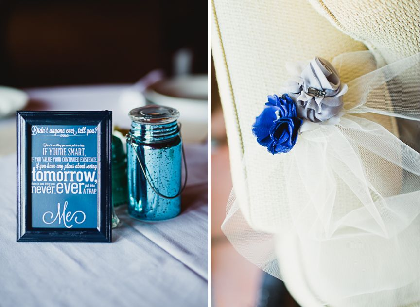 Dr Who Quotes As Table Settings At Wedding Dr Who Wedding Colors
