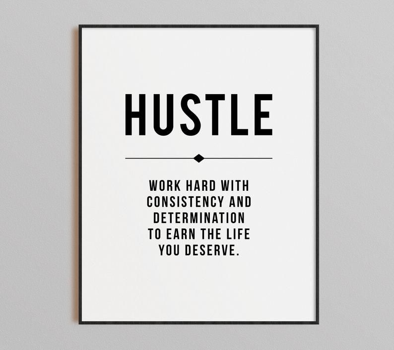 Hustle Quote Grind Definition Office Wall Art Gallery Set Etsy Office Wall Art Hustle Quotes Motivational Decor