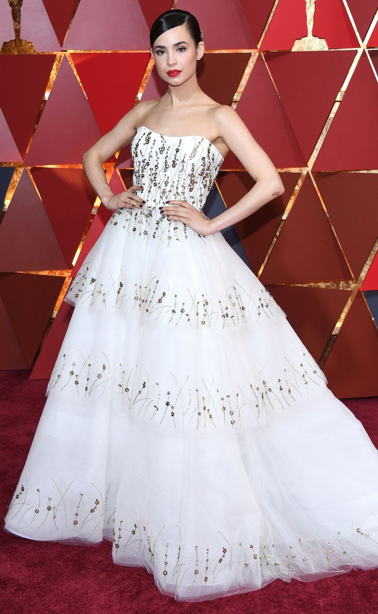 All the stars hitting the oscars red carpet sofia carson and