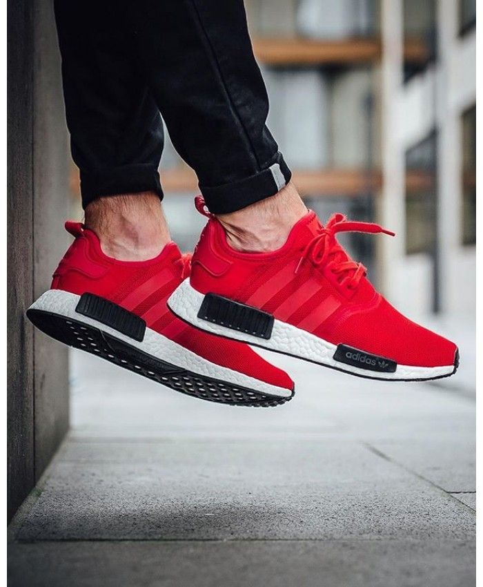 Adidas NMD R1 Clear Red Trainers  9c91f49db