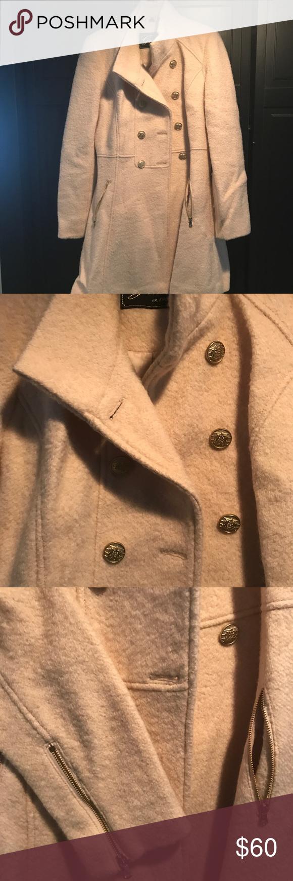 Guess Coat Size Medium Oatmeal color | Oatmeal color, Coat