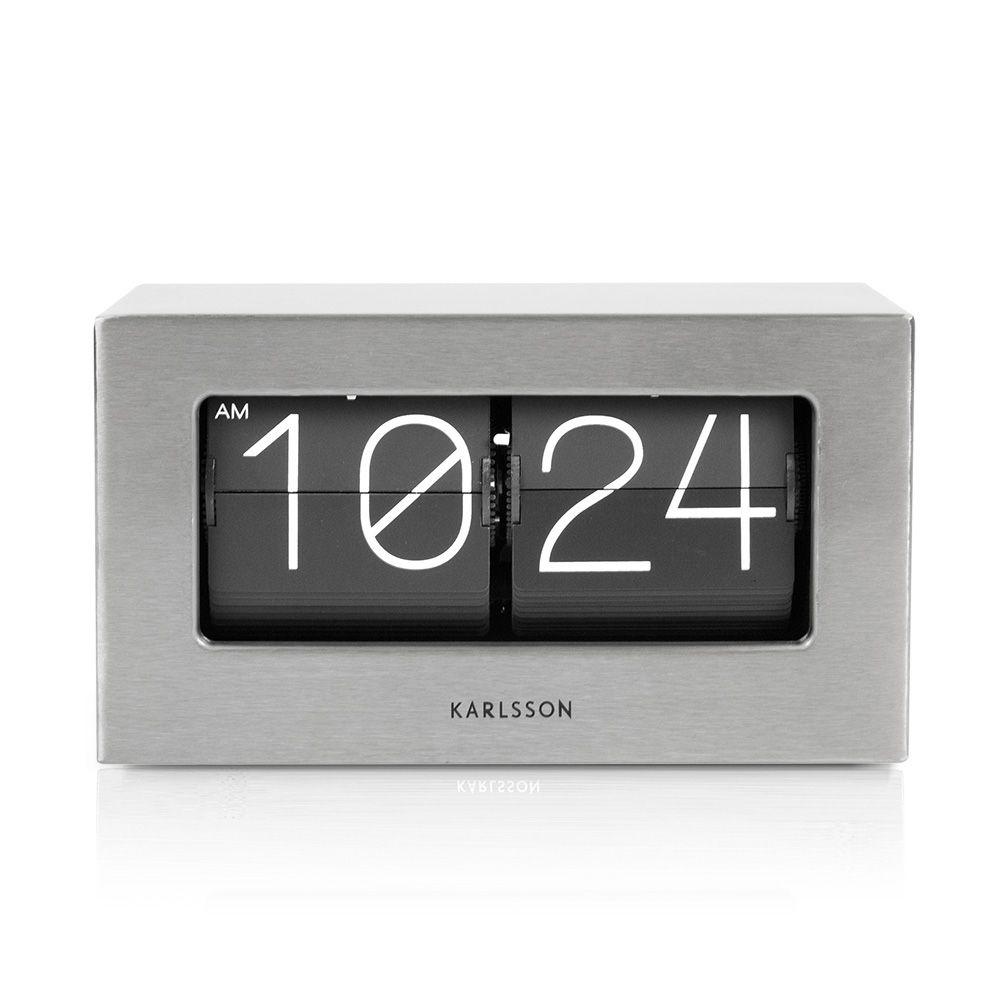 Karlsson Uhren tolle flip clock mit klappzahlen karlsson boxed flip stahl