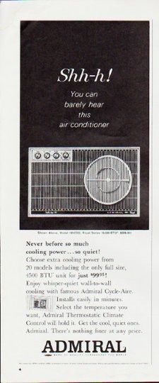 1964 Admiral Air Conditioner Vintage Ad Shh H Vintage Ads