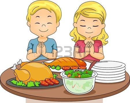 Ilustracion De Un Nino Y Una Nina Orar Antes De Comer Ninos Comiendo Animados Nino Orando Como Dibujar Ninos
