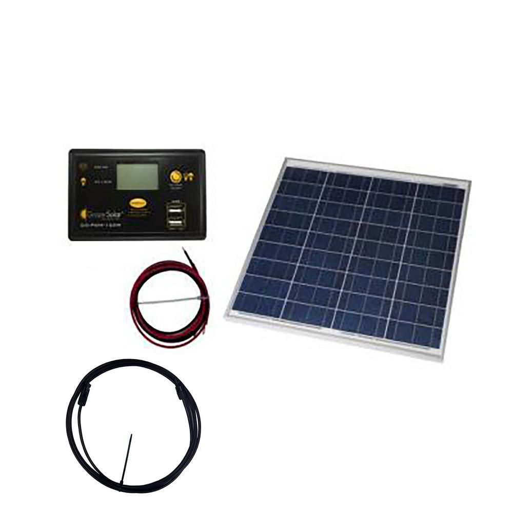 Grape Solar 50 Watt Off Grid Solar Panel Kit Solar Power Kits Solar Panel Installation Solar Energy Panels