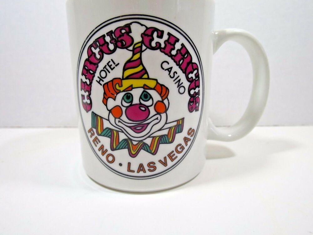 CIRCUS CIRCUS Coffee Mug Hotel Casino Las Vegas Reno Clown