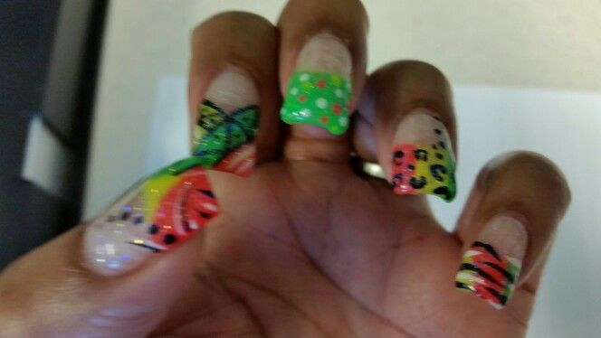 My Jamaican nail design - My Jamaican Nail Design Jamaican Nail Design Nail Designs, Nails