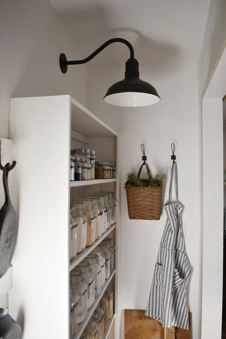 Modern Farmhouse Style Gooseneck Lighting For The Kitchen And Pantry
