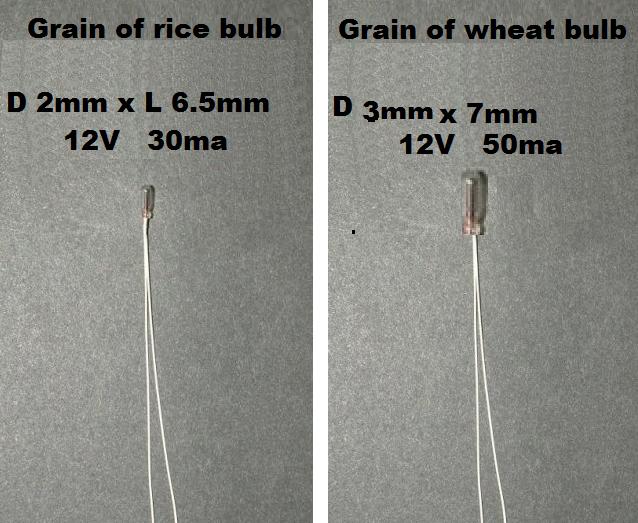 12v Bulb Grain Of Rice Wheat Rice Grain Dollhouse Lighting Modern Dollhouse