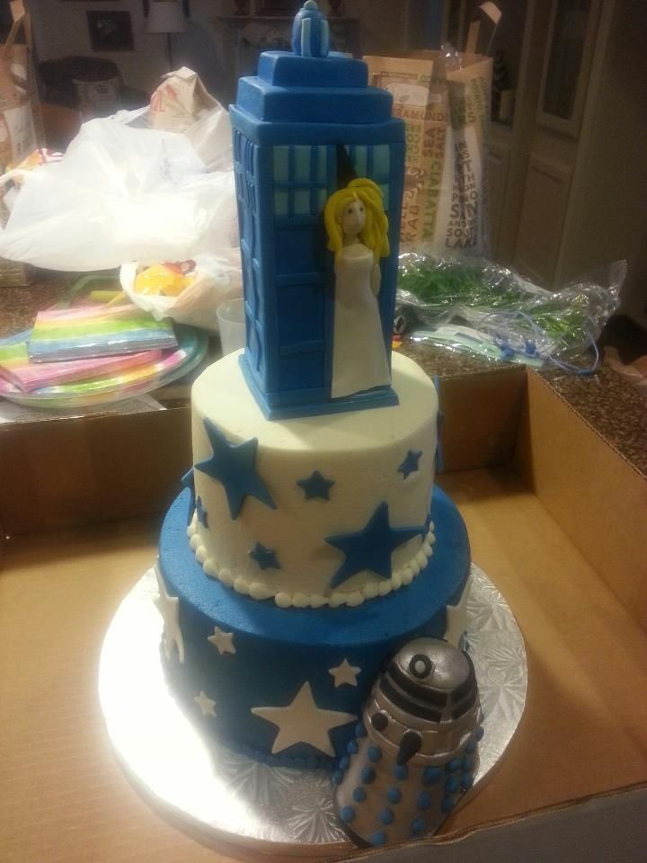 Doctor Who Birthday Cake Laurens Doctor Who Birthday cake Star