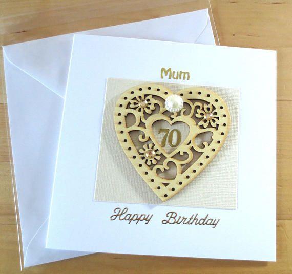 70th Birthday Card Gift For Woman Mum Mom Personalised 70th Etsy 70th Birthday Card 90th Birthday Cards 60th Birthday Cards