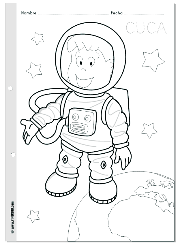 Cuca astronauta - colorea en el espacio - World Space Week #coloring ...