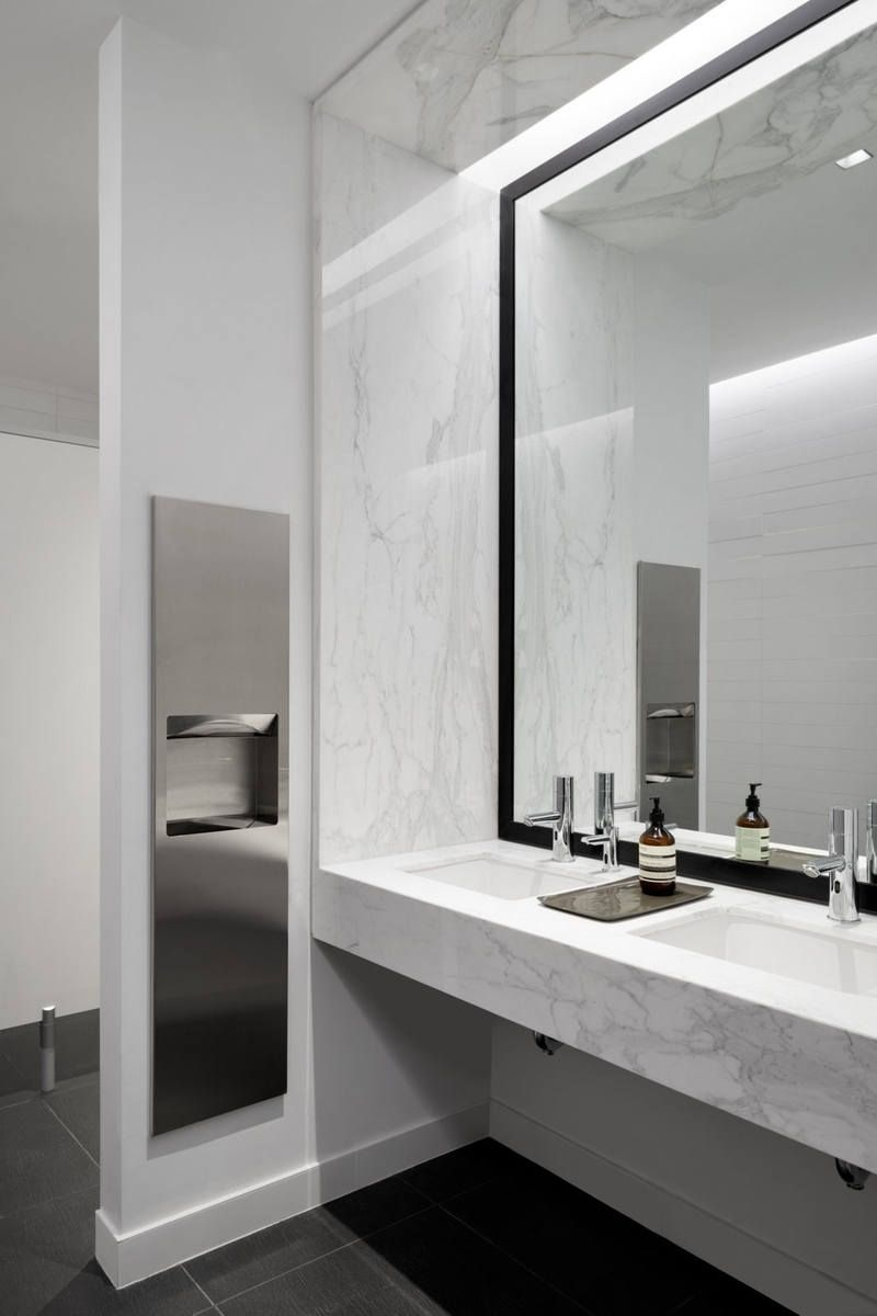 222 East 41st Offices New York City Office Snapshots Washroom Design Office Bathroom Design Public Restroom Design
