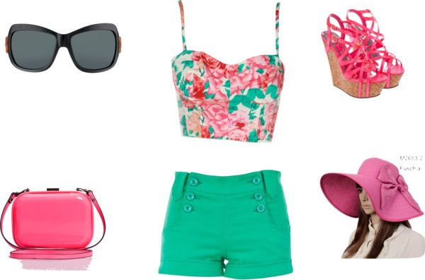 """HOT Pink SuMmEr"" by lacyh on Polyvore"