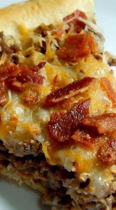 Bacon Cheeseburger Pie Recipe Cheeseburger Pie Food Recipes Food