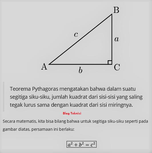 Rumus pitagoras phytagoras menyatakan bahwa kuadrat hipotenusa rumus pitagoras phytagoras menyatakan bahwa kuadrat hipotenusa dari suatu segitiga siku siku adalah ccuart Choice Image