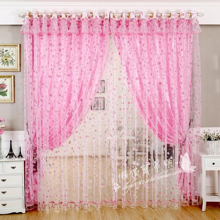 http://www.aliexpress.com/item/Rustic-floral-sheer-curtains-finished ...