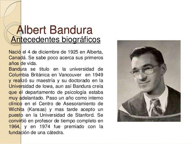 Resultado de imagen para Albert Bandura