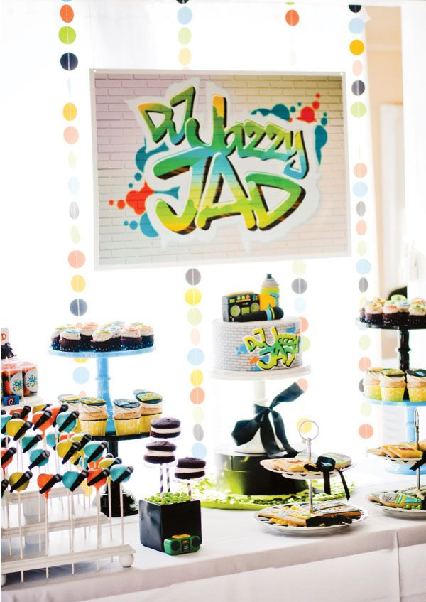 Graffitti banner Birthday Party Ideas Pinterest Pedestal - fresh birthday party invitation designs