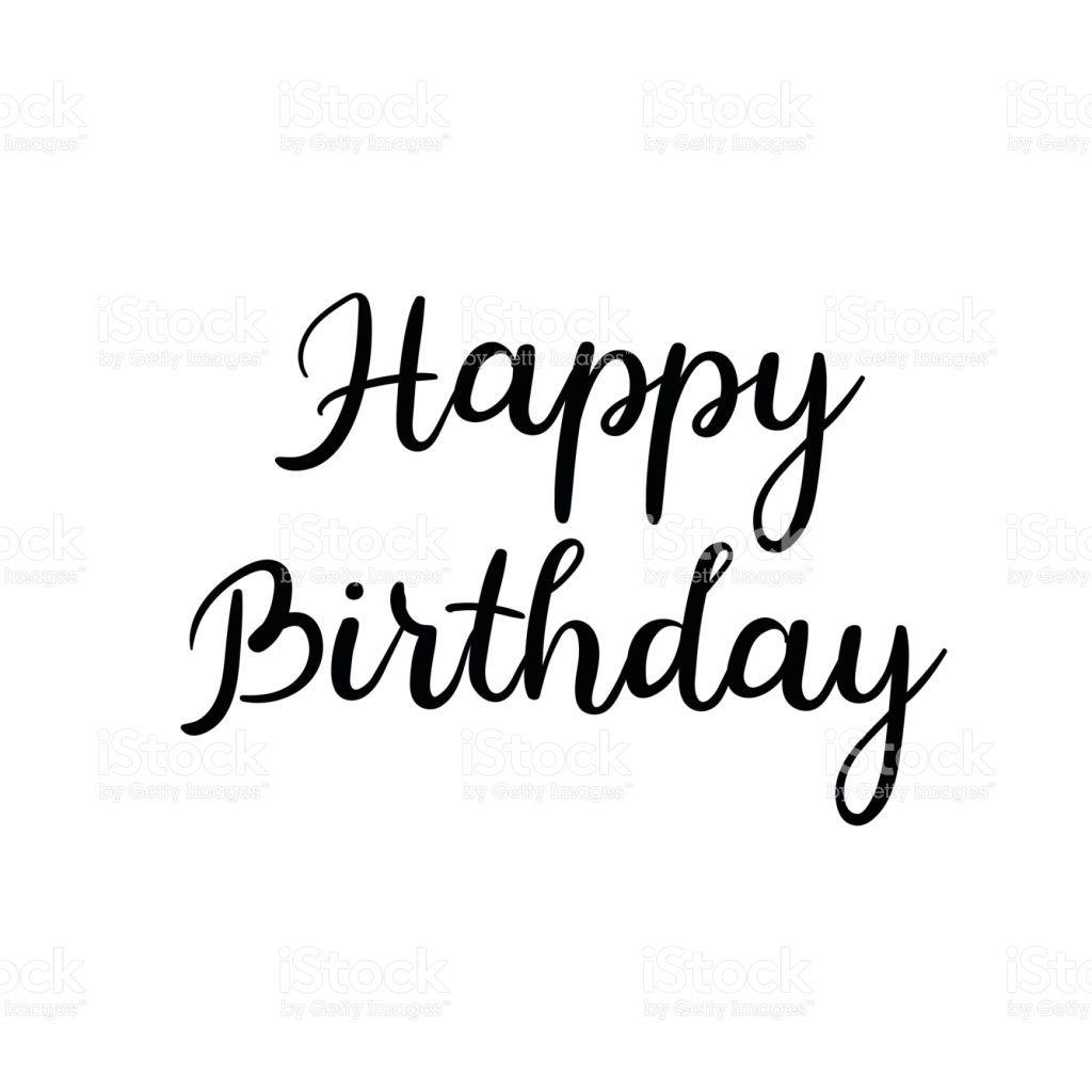 Happy birthday sign in elegant black script type with ornament - Image Result For Happy Birthday In Calligraphy Pics