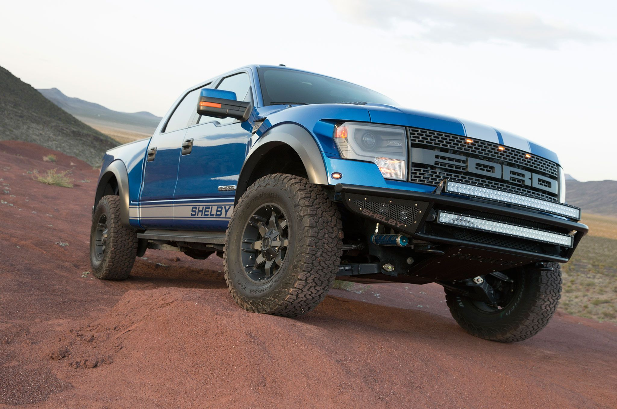 Shelby gives the ford raptor 700 horsepower and stripes for 45 000 ford raptor ford and ford trucks