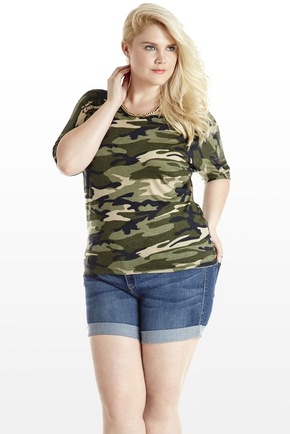 Rockabilly wedding dress plus size  Camo and Went Jersey Top  Plus Size  Pinterest  Camo Catalog and