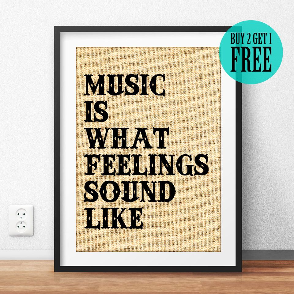 Rock n Roll Poster, Music Wall Art, Music Quote Print, Wall Saying ...