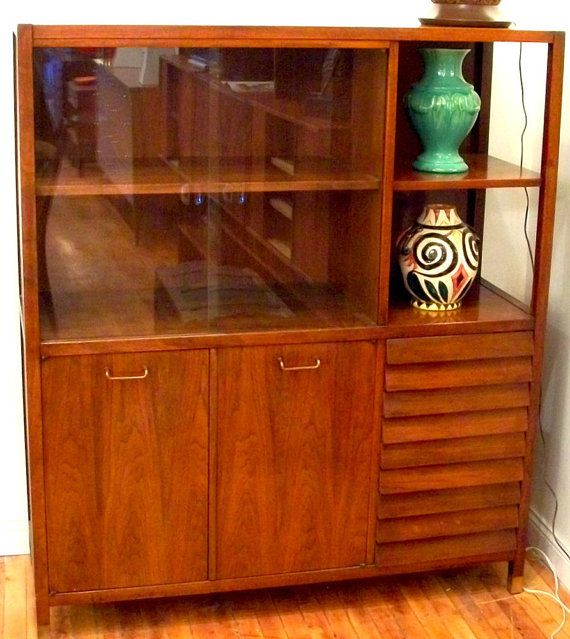 American Of Martinsville Walnut Hutch By Tombasi On Etsy