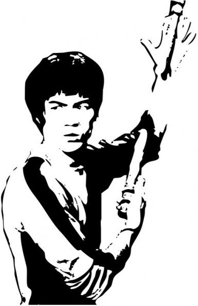 Stencilry Bruce Lee Bruceleenun0zr Bruce Lee Art