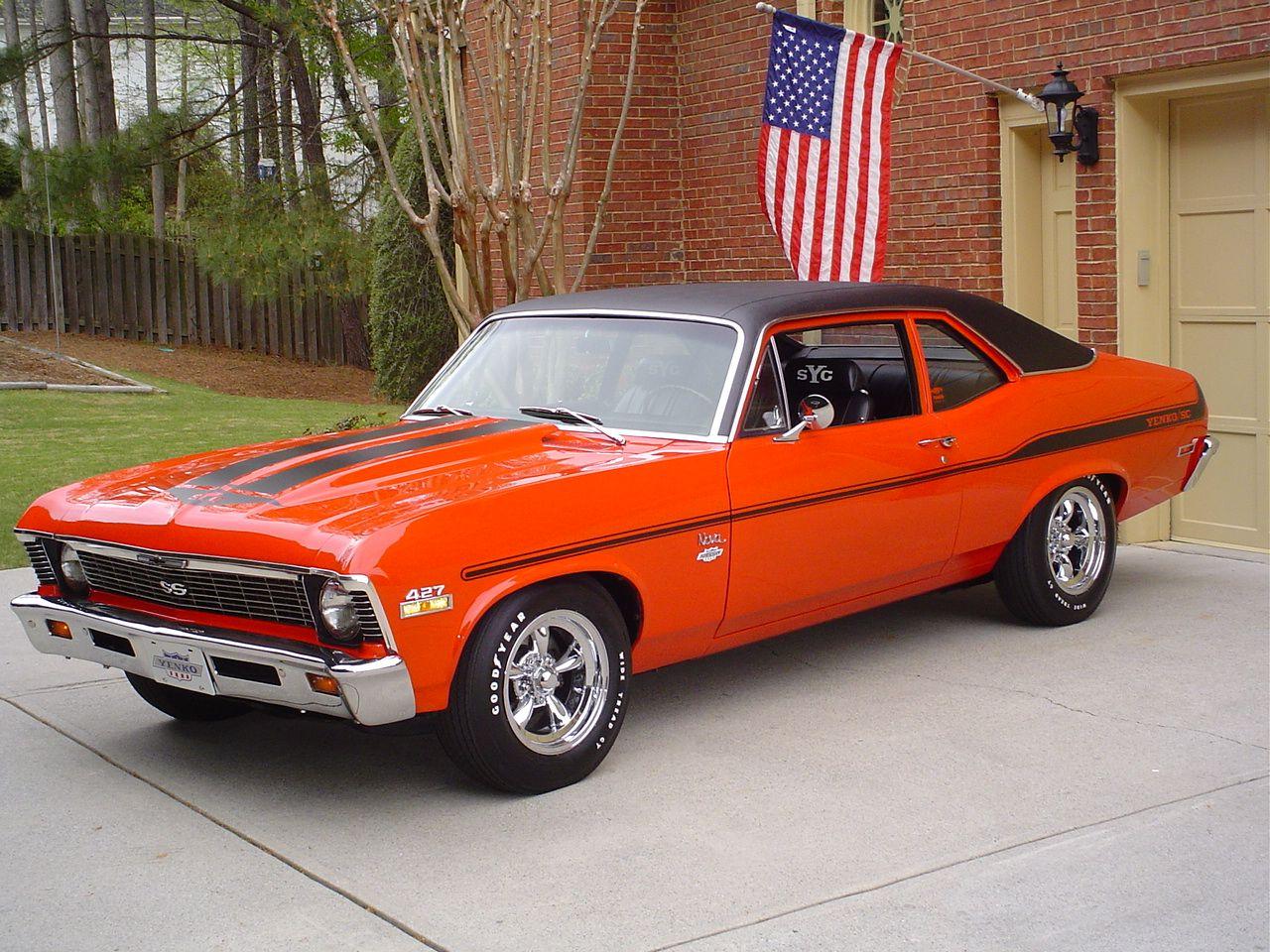 1969 Chevrolet Nova Yenko (or clone) Burnt Orange is nice ...