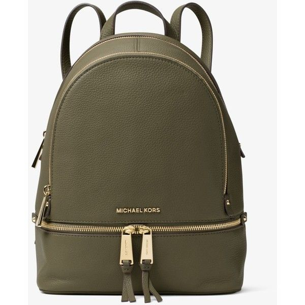 7dd1c0ab49bf MICHAEL Michael Kors MICHAEL Michael Kors Rhea Medium Leather Backpack ( 298)  ❤ liked on Polyvore featuring bags