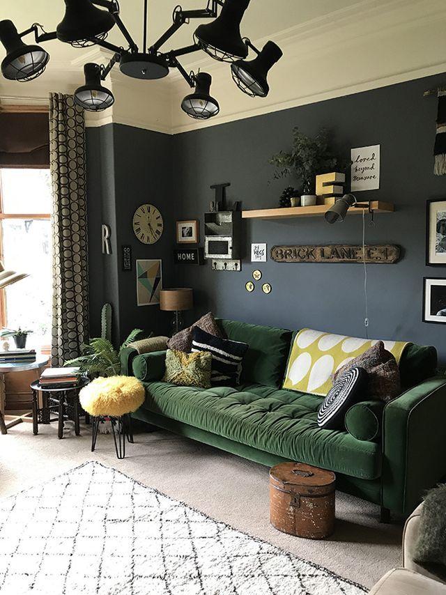 The Girl with the Green Sofa (desiretoinspire.net) | Living room ...