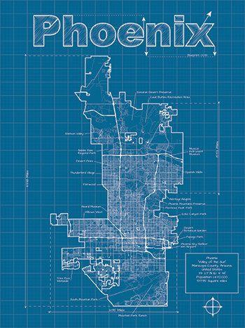 Phoenix artistic blueprint map 3000 via etsy man cave phoenix artistic blueprint map 3000 via etsy malvernweather Gallery