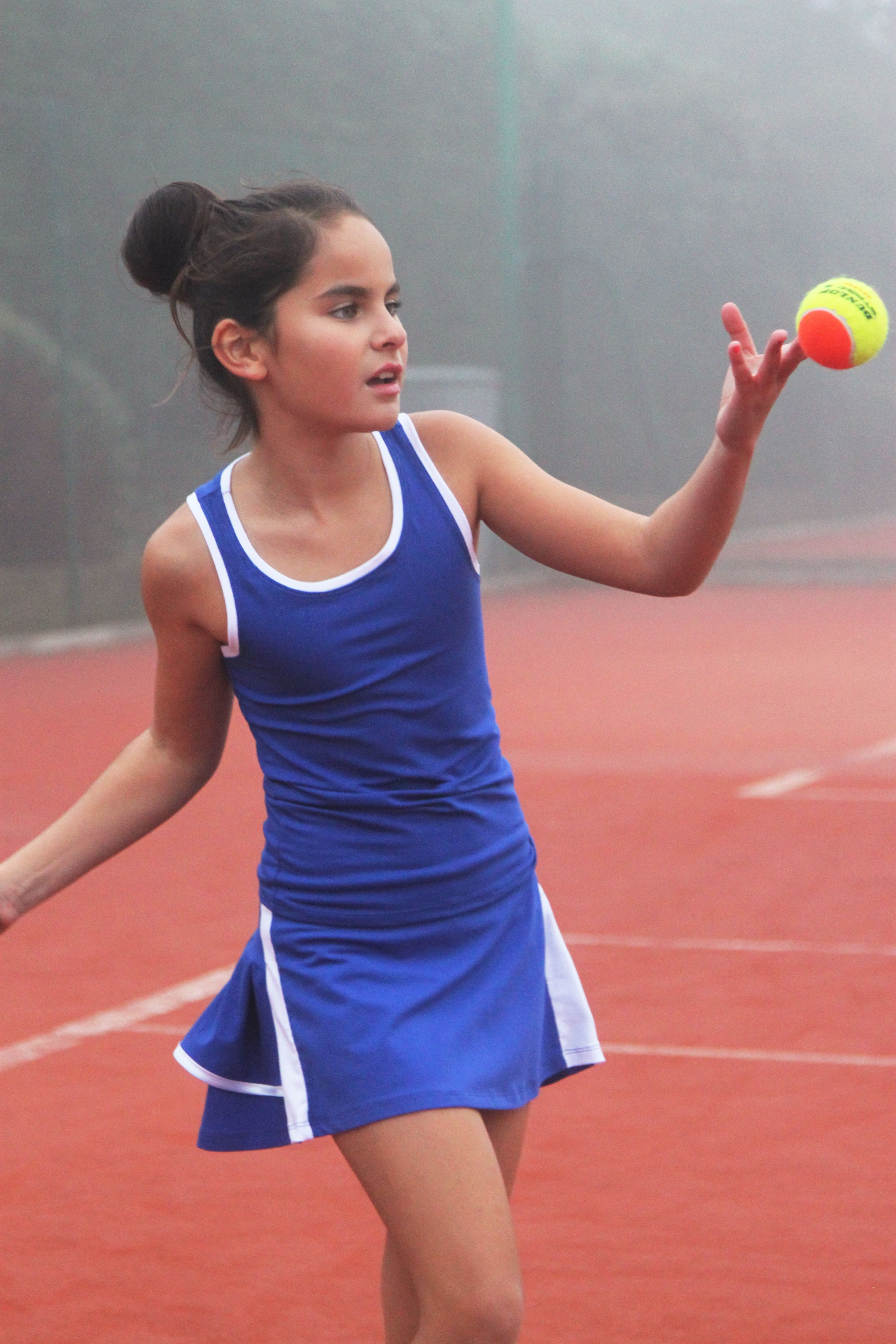 64c408ccba6dd7 Angelique Cobalt Blue Tennis Outfit designed and made in UK by Zoe  Alexander UK. #Tennis #KidsFashion #TennisApparel #TennisSkirt