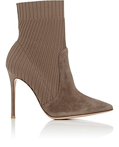 Womens Katie Leather & Knit Ankle Boots Gianvito Rossi Gu5oZTh1hW
