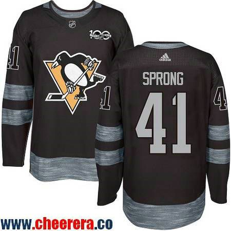 837885f0a cheapest mens pittsburgh penguins 41 daniel sprong black 100th anniversary  stitched nhl 2017 adidas hockey jersey