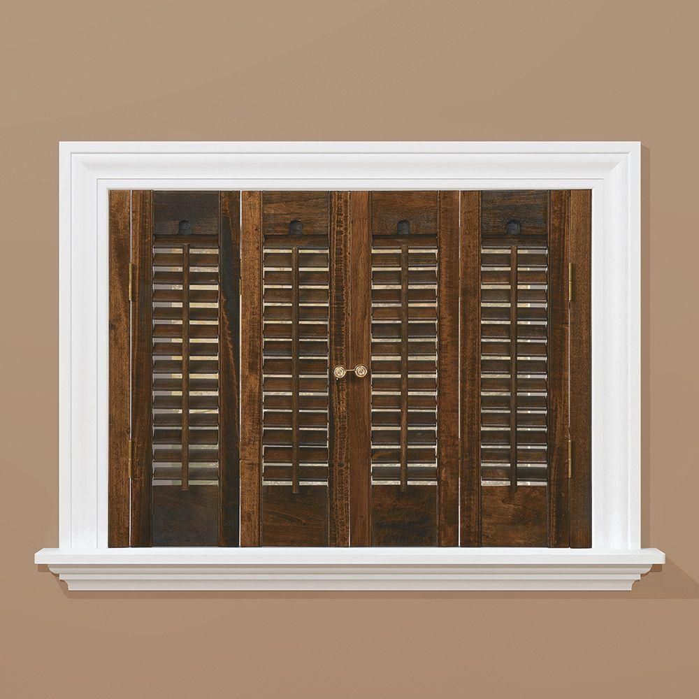 Homebasics Traditional Real Wood Walnut Brown Interior Shutter Price Varies By Size