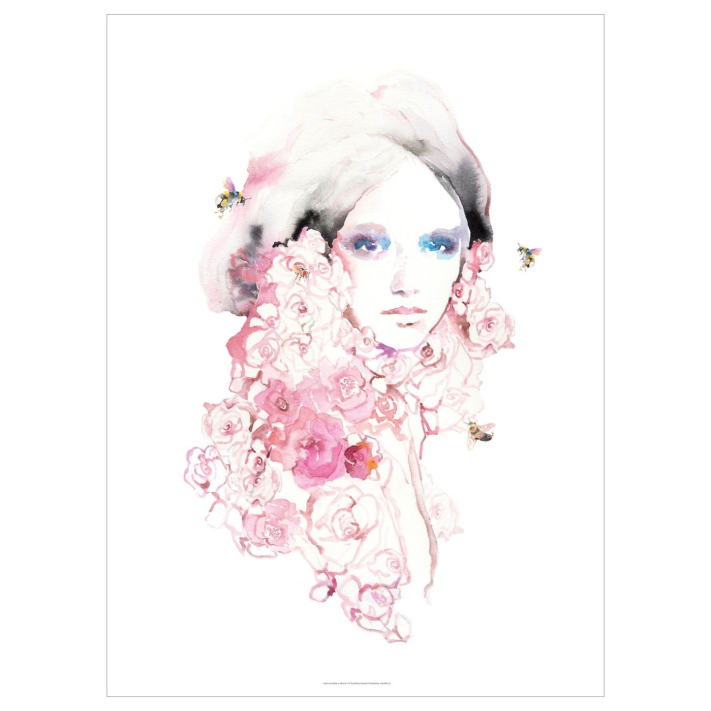 PJÄTTERYD Picture, Flower girl, Width: 27 ½