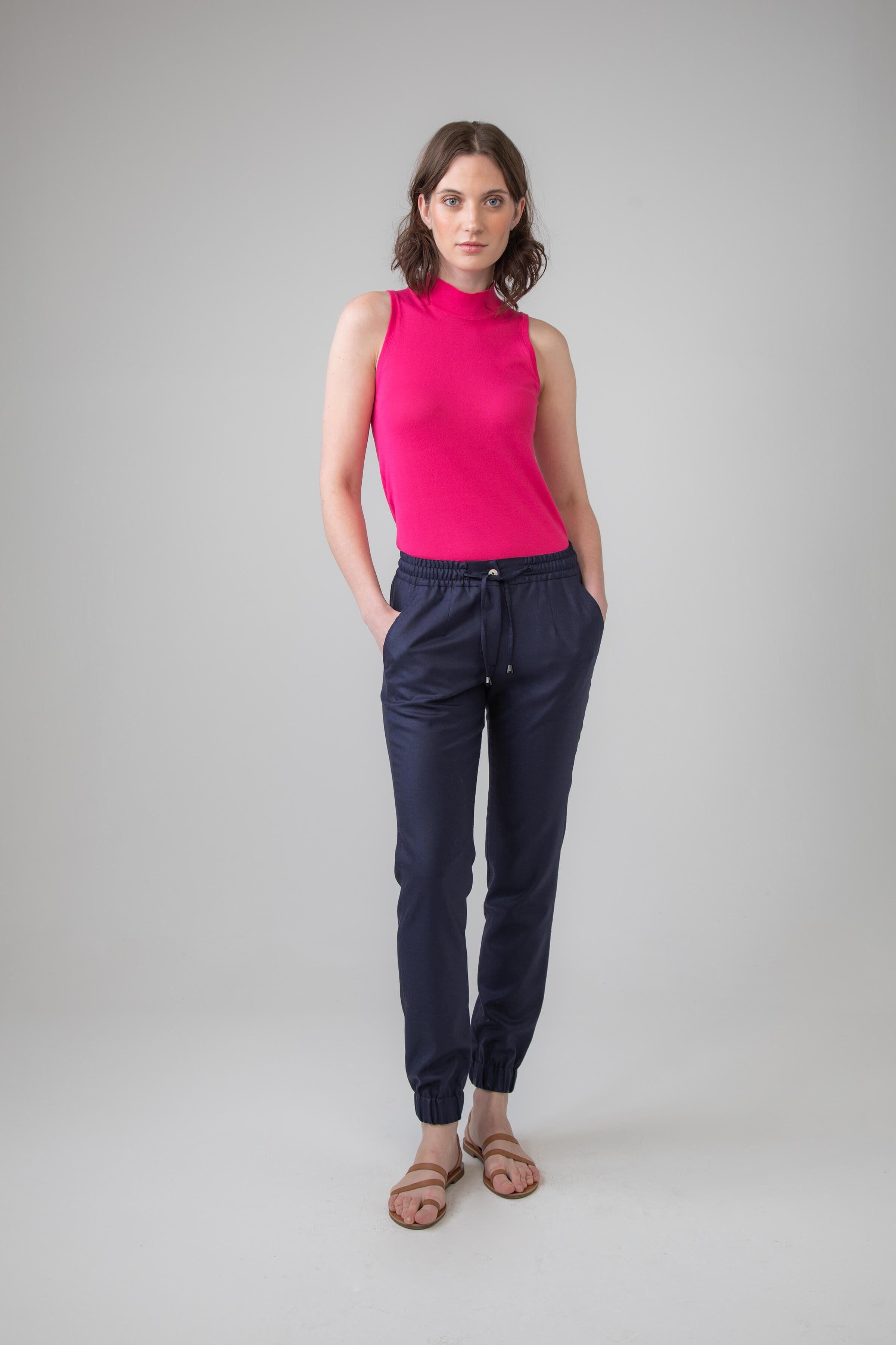 2f4ad99c CALLNAME: TD000189 PISA COLOUR: RU2611 NAVY Extra Fine Merino Wool Women's Jogging  Bottoms,
