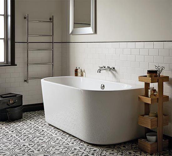 badezimmertrend schwarz weiss look mit metrofliesen waldfrieden state interior pinterest. Black Bedroom Furniture Sets. Home Design Ideas