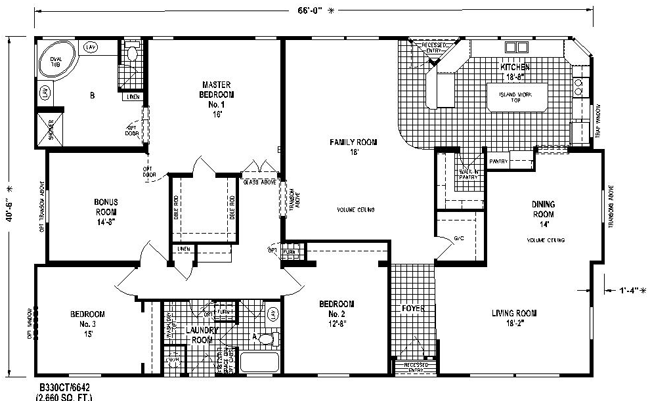 Triplewide2 Manufactured Gif 650 401 House Floor Plans Skyline Homes Mobile Home Floor Plans