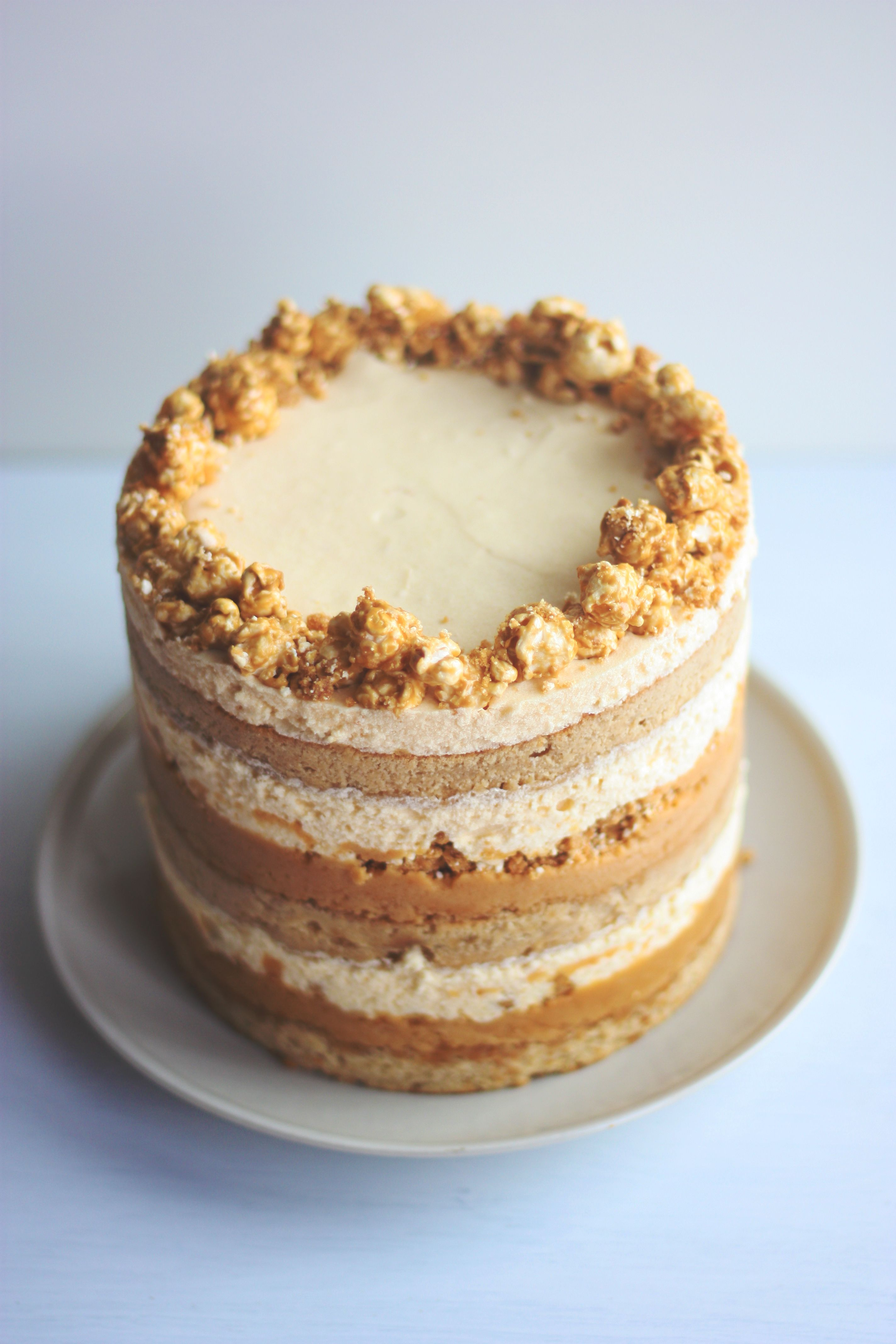Momou Milk Bar Inspired Salted Caramel Popcorn Cake